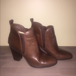 Michael Kors Dark Brown Leather Boots